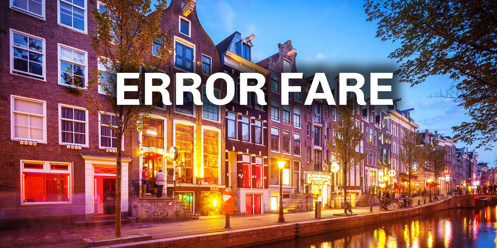 PHL to AMS Amsterdam error fare