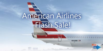 American Airlines Flash Sale PHL to North Carolina, South Carolina, Philly Flight List, Moonfish