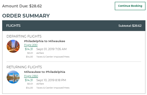 Cheap flights from PHL Philly to MKE Milwaukee, Wisconsin, Philly Flight List, Moonfish