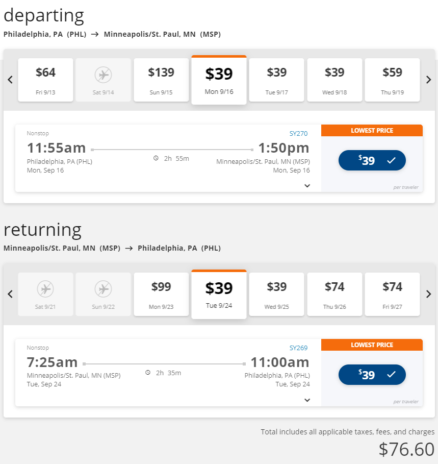 Cheap flights from Philly PHL to MSP Minneapolis, Minnesota, Philly Flight List, Moonfish
