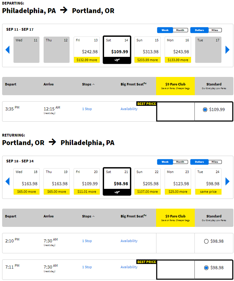 Cheap flights from PHL to PDX Portland, Oregon