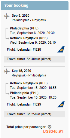 Cheap flights from PHL to KEF Reykjavik Iceland