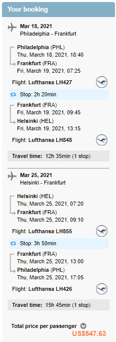 Cheap flights from PHL to HEL Helsinki Finland