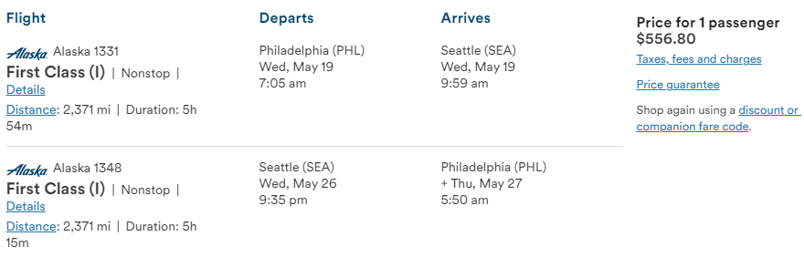 Cheap First Class flights from PHL to SEA Seattle Washington